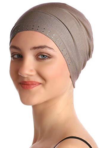 Deresina Headwear Jeweled Wesentliche Baumwollkappe (Nerz)