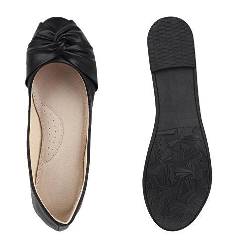 Ballerinas Schleifen Freizeit Lack Flats Damen Schuhe Klassische bY76Ivyfg