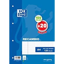 Oxford 329949-100 Sheets Replacement Grid: 4x4, A4 Size