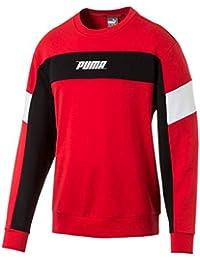 Puma Rebel Crew TR Sudadera, Hombre, Rojo (High Risk Red), L