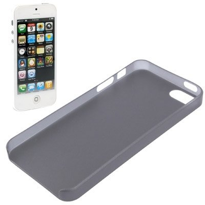 Wkae Case Cover Hohe Qualität 0.4mm ultra dünne Polycarbonat Materialschutz Shell für das iPhone 5 &5s &SE ( Color : Blue ) Dark Grey