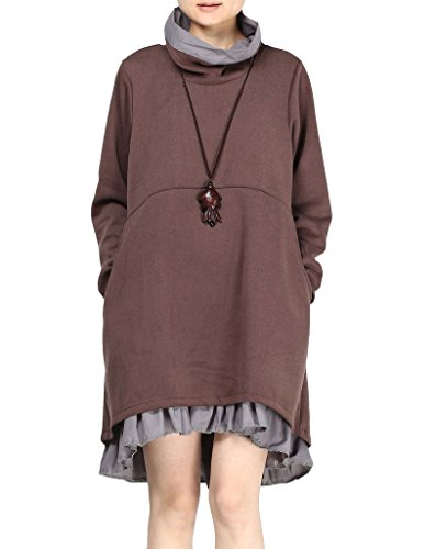 matchlife-femme-double-couche-manches-longues-robe-tops-cafe-l