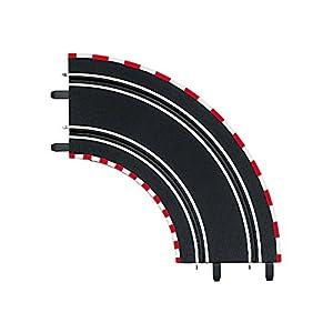 Carrera - Curva 1/90°, 2 piezas, escala 1:43, color Negro (20061603)
