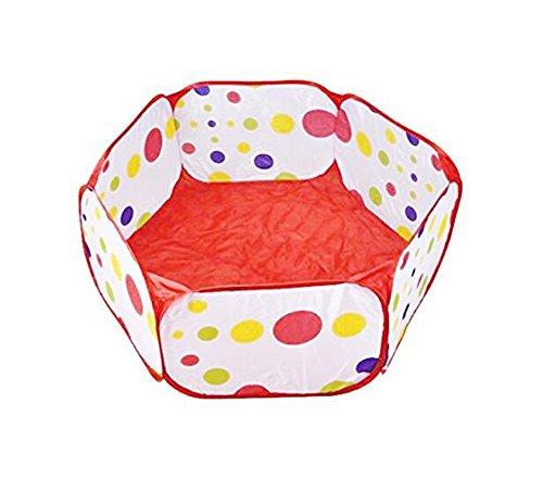 ltbarer Spielzeugkorb Pop-up Zelt für Ozean Bälle Kunststoff Bälle Spielzeug,39.4*19.7*14.5 in ()