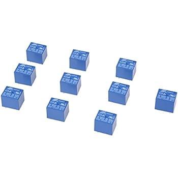 Sourcing map Lot de 5 relais /électromagn/étiques JQC-T78-DC12V-C DC 12 V SPDT 5 broches PCB
