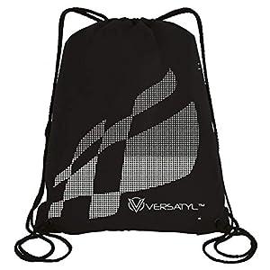 VERSATYL-Drawstring Bag Sports Backpack Gym Yoga Water Resistant Denim Sackpack Shoulder Rucksack for Men and Women Best Online Shopping Store