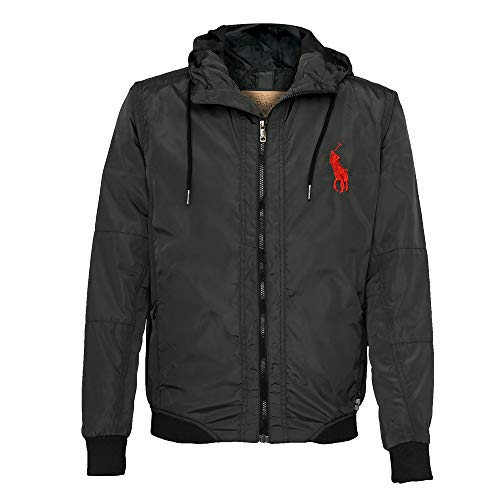 low priced b7c63 1adc0 Ralph Lauren Chaqueta con Capucha Big Pony (S, Negro)