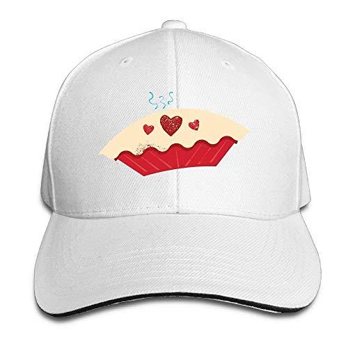 aseball Cap Unisex Sandwich Peaked Cap Sweet Cupcake Funny Art Adjustable Cotton Baseball Caps ()