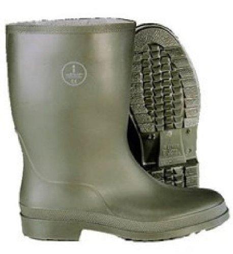 Dunlop Dee Half Calf Wellington Boots - Green/Crepe