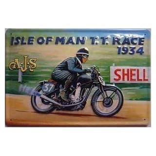 Isle Of Man TT AJS 1934 blechschild (hi 2030)