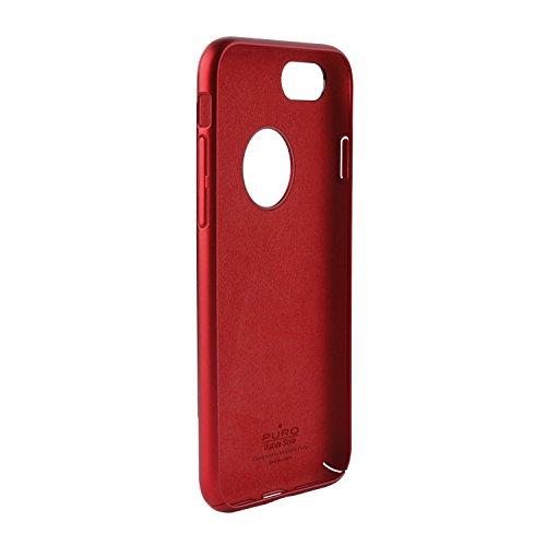 Puro Back Case Ultra Slim 0.3 Schutzhülle (für Apple iPhone 7) Schwarz rot