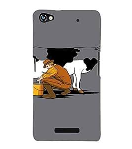 EPICCASE Cow milk Mobile Back Case Cover For Micromax Canvas Hue 2 A316 (Designer Case)