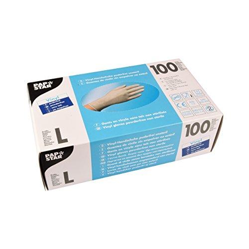 PAPSTAR Handschuhe Vinyl/12234 natur Inh.100