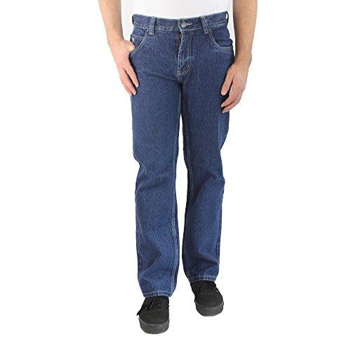247 JEANS - Herrenjeans, 100 % Baumwolle, Comfort Fit, Medium Blue Denim, Maple D10, N307D10002 Medium blue stone washed denim