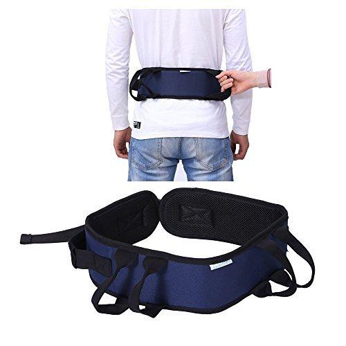 Gait cinturón correa de transferencia con trabillas de pierna médicos Lift Enfermería de Salud para la atención al paciente seguridad Walking cinturón ambulation Assist ayuda, Blue-Nursing Belt