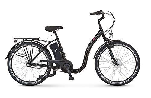 Prophete E-Bike Alu-Tiefeinsteiger GENIESSER e9.4 | 250 W | ca. 100 km | Alu-V-Bremsen | schwarz | 26 Zoll | Rahmenhöhe 46 cm | 3-Gang Shimano Nabenschaltung | Samsung Side-Click Akku 36 V 11 Ah