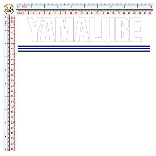Black Bit - yamalube sticker sponsor cropped adesivi stampati e prespaziati pvc bianco 1 pz.