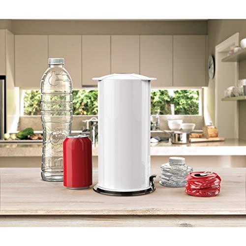 Kunststoff-Flaschenzerkleinerer zum Recycling von Aluminiumdosen Soda-Bier Kunststoffflaschen, umweltfreundliches Recycling-Werkzeug kann Schrumpfer Crusher weiß