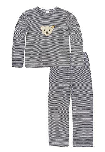 Steiff Mädchen Schlafanzug, Blau (Marine 3032), 18-24 Monate (Herstellergröße:92) - Marine-blau-jungen-schlafanzug