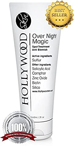 Over Night Magic - With Salicylic acid and sulfur. Spot treatment that's 4x STRONGER than the regular acne treatments. 60 ml