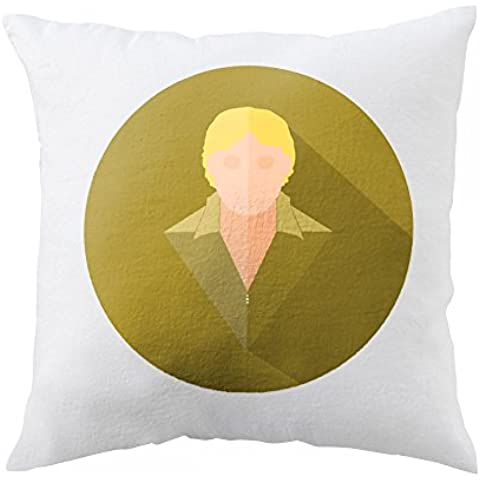 Pillow with This is a stylized vector drawing of Steve Irwin. Image Source en.wikipedia.org wiki Steve_Irwin media File Steve_Irwin.jpg