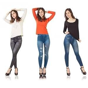 Lot de 3 Leggings Jeans gainants L/XL
