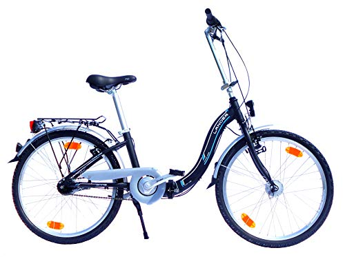 24 Zoll Lander Faltrad 7 Gang Nabenschaltung Aluminiumrahmen Nabendynamo StVZO-Ausstattung schwarz