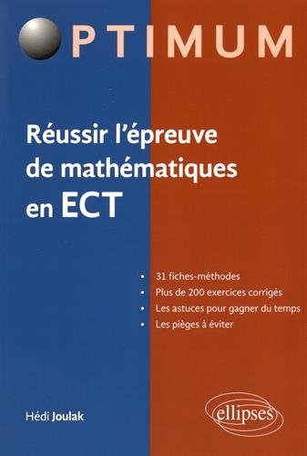 Russir l'preuve de Mathmatiques en ECT
