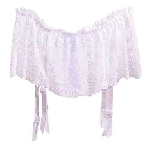 Odjoy-fan-donne pizzo sexy prospettiva calze giarrettiera lingerie di bretelle women's velate alta calza sexy con reggicalze regolabile reggicalze in set thigh highs