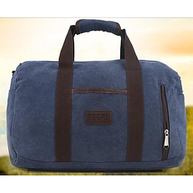 Unisex Tasche Canvas Polyester All Seasons zwanglosen Outdoor Rechteck Reißverschluss Ruby Braun Grau Schwarz Blau Blue