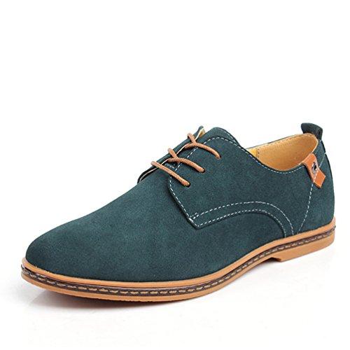 XIGUAFR Chaussure AU Loisir pour Homme Printemps-Eté Chaussure de Travail en Cuir Suédé à Lacets Résistant à L'Usure