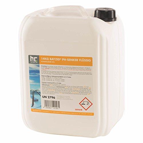 pH Senker Pool flüssig - 1 x 14 kg - Für einen optimalen pH-Wert und eine gute Wasserqualität - Höfer Chemie (Senker 1)
