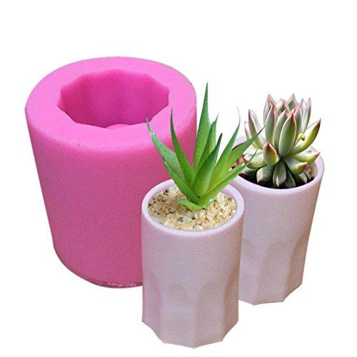 (DIY Silikonform,Househome DIY Gips Formen Fleischigen Blumentöpfe Silikonform Kuchen Dekoration Werkzeuge Aromatherapie Wachs Tablet Silikonform)