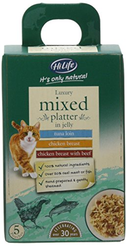 HiLife It's Only Natural Luxury Cat Food Mixed Platter in Jelly, 20 x 50g Pouches 1