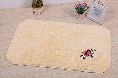 Trockenen Schaum Teppich (LYD® Teppichmatten Home Handgefertigte Spinnmaschine Waschbare Zahnbürste Badezimmer Küche Badezimmer Badezimmer Wasserdicht Anti-Rutsch Pad Teppich 500Mm * 800Mm)
