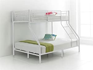 fzr Brand New Triple Sleeper Metal Bunk Bed White Colour space saver