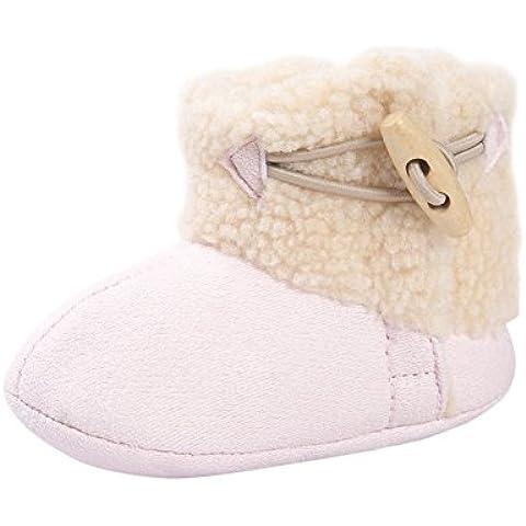 ROPALIA Kids Baby Girls Snow Boots Prewalker Shoes Winter Warm