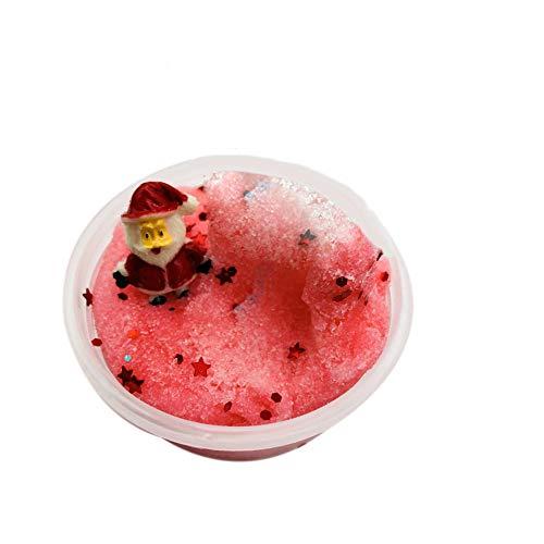 JERFER Juguetes para Niños Navidad Copo de Nieve Santa ClausLa Nube SlimeMasilla Perfumada Niños Juguete de Arcilla 60ml