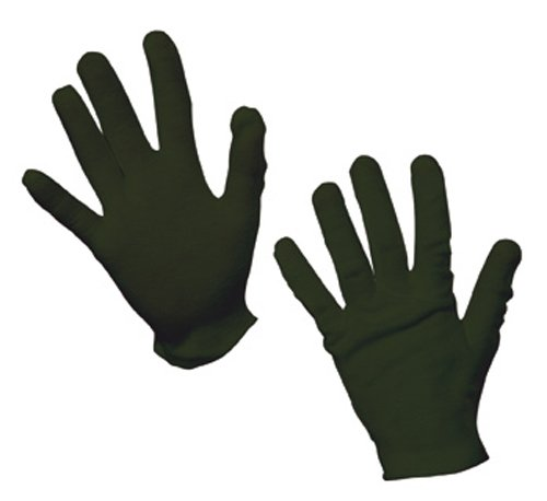 Rubie's Offizielle Kinder-Handschuhe, Baumwolle, Einheitsgröße, Schwarz (Kinder Handschuhe Schwarz)