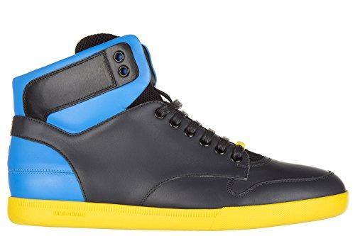 Dior scarpe sneakers alte uomo in pelle nuove blu EU 40 3SH057VZA