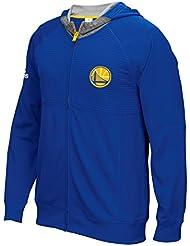 "Golden State Warriors Adidas 2016 NBA On-Court ""Pre-Game"" Full Zip Hooded Jacket Veste"