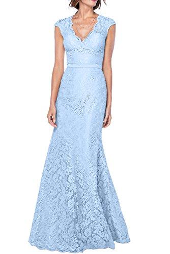 Gorgeous Bride Elegant V-Ausschnitte Meerjungfrau Prom Festlich Lang 2017 Damen Partykleider Abendkleider Lang Cocktailkleider Ballkleider Himmelblau