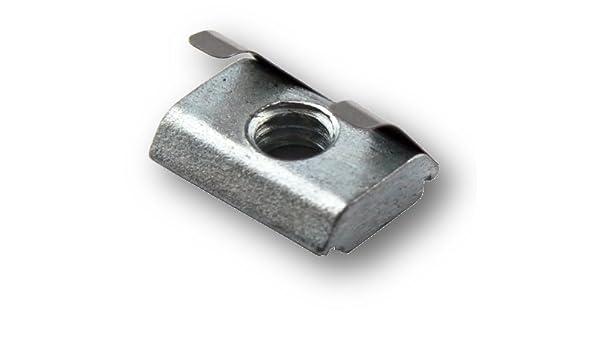 Hammermutter T-Nut Gleitmuttern Gleitverschluss f/ür Aluminium Profil Zubeh/ör Aluminiumprofil der Serie 40 M6 H HILABEE 50 Stk
