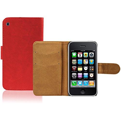 Apple iPhone 6 TPU Gel Case - Blau Apple iPhone 6 Tasche Flip Case Leder Cover Schutz Hülle Etui Schale - thinkmobile Rot Brieftasche