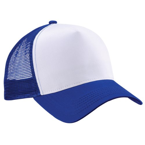 Beechfield Herren Mesh Trucker Baseballkappe, Bright Royal/ White, one size