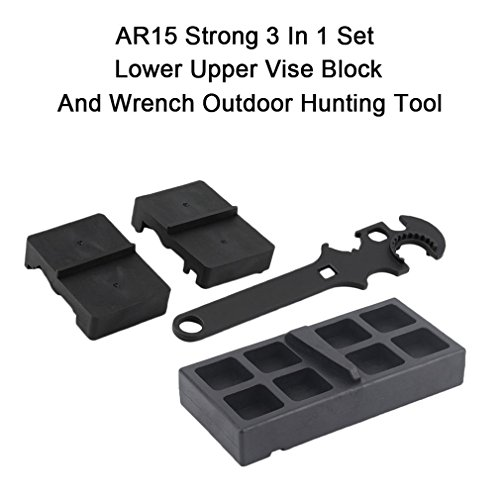Preisvergleich Produktbild Gugutogo AR15 Starke 3 In 1 Satz Unteren Oberen Vise Block Und Schraubenschlüssel Outdoor Jagdwerkzeug (farbe: schwarz)