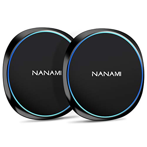 NANAMI Wireless Charger, 10W Schnelles drahtloses Ladegerät für Samsung Galaxy S10/9/8/7/ Note 10/9/8, 7.5W Qi Ladegerät Wireless Ladepad für iPhone 11 X XS Max XS XR 8 8 Plus Neue Airpods [2-Pack]