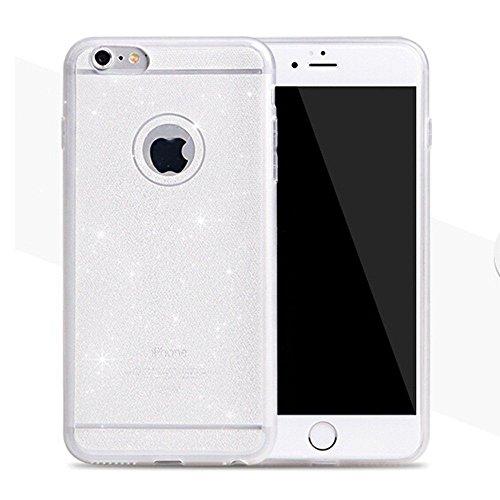"Coque Bumper Cover iPhone 6 / 6s ( 4,7 pouces ) 4.7"" - Paillette strass glitter bling luxe fete THEcoque DESIGN case - Gris ARGENT"