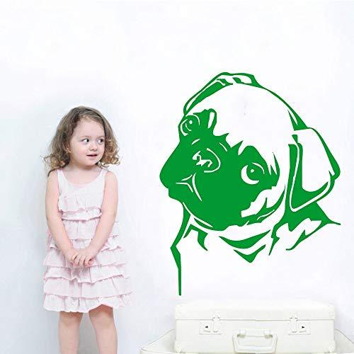 Zaosan Künstler Dekoration Tier Mops Kopf Stick Wandtattoo - Grant Holz-künstler