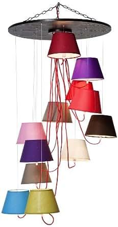 DECLIKDECO - Suspension 12 lampes multicolores Cameleon